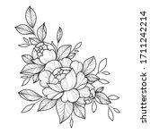 hand drawing flower for... | Shutterstock .eps vector #1711242214