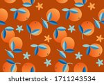 orange fruits  exotic plants... | Shutterstock .eps vector #1711243534