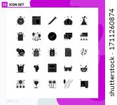 25 solid glyph concept for... | Shutterstock .eps vector #1711260874