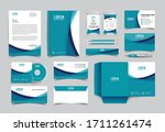 corporate identity template... | Shutterstock .eps vector #1711261474