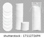 realistic cotton pads 3d vector ... | Shutterstock .eps vector #1711272694