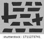 black adhesive duct tape... | Shutterstock .eps vector #1711273741