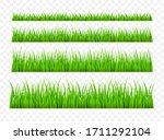 green grass meadow border... | Shutterstock .eps vector #1711292104