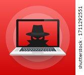 spyware  internet technology.... | Shutterstock .eps vector #1711292551