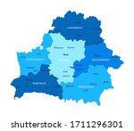 belarus map. cities regions... | Shutterstock .eps vector #1711296301