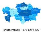 kazakhstan map. cities regions... | Shutterstock .eps vector #1711296427