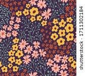 dark abstract plants seamless... | Shutterstock .eps vector #1711302184