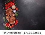 Fresh Delicious Juicy Steak On...