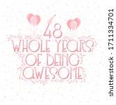 48 years birthday and 48 years...   Shutterstock .eps vector #1711334701