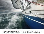 Yacht Sailing In A Thunderstorm ...