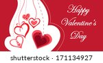 happy valentines day greeting... | Shutterstock .eps vector #171134927