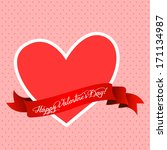 valentines day greeting with... | Shutterstock .eps vector #171134987
