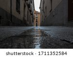 Narrow Street After A Rainy Day