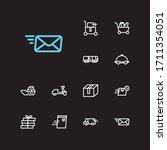 shipment icons set. global...