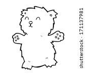 cartoon teddy bear | Shutterstock .eps vector #171137981