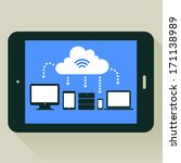 flat design cloud concept...