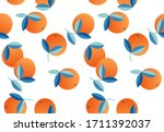 orange fruits  exotic plants... | Shutterstock .eps vector #1711392037