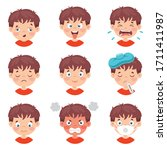 set of different expressions of ...   Shutterstock .eps vector #1711411987