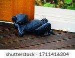Ceramic Frog Doorstop In...