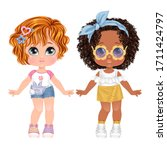 Two Cute Toddler Girls With...