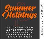 handwritten fonts and alphabets ...   Shutterstock .eps vector #1711427461