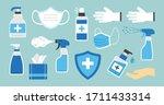 hygiene. disinfectant ... | Shutterstock .eps vector #1711433314