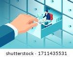 vector of a big businessman... | Shutterstock .eps vector #1711435531