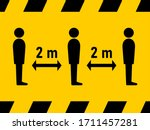 keep safe distance social...   Shutterstock .eps vector #1711457281