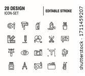simple set of design related... | Shutterstock .eps vector #1711459207