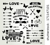 valentine's day set of symbols... | Shutterstock .eps vector #171147101