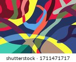 trendy abstract colorful... | Shutterstock .eps vector #1711471717