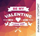 valentine's day poster... | Shutterstock .eps vector #171147347