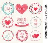 set of holiday symbols  ... | Shutterstock .eps vector #171148085