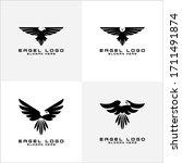 Set Of Eagle Logo Vector Symbol