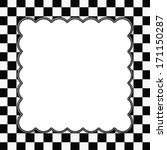 Black And White Checkered Fram...