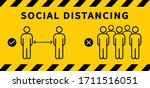 social distancing icon. keep... | Shutterstock .eps vector #1711516051