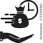 quick and easy loan icon on...