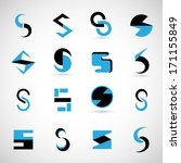 unusual letters set   isolated... | Shutterstock .eps vector #171155849