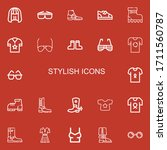 editable 22 stylish icons for...   Shutterstock .eps vector #1711560787