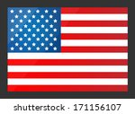 united states flag. vector... | Shutterstock .eps vector #171156107