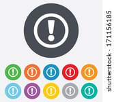 attention sign icon.... | Shutterstock .eps vector #171156185