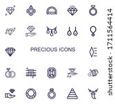 editable 22 precious icons for... | Shutterstock .eps vector #1711564414