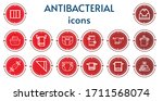 editable 14 antibacterial icons ... | Shutterstock .eps vector #1711568074
