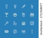 editable 16 wine icons for web... | Shutterstock .eps vector #1711568077