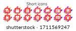 short icon set. 14 filled short ... | Shutterstock .eps vector #1711569247