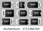 black ticket with barcode set.... | Shutterstock .eps vector #1711586764