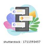 reviews rating online bubbles...   Shutterstock .eps vector #1711593457