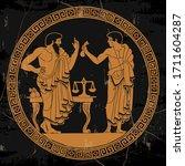 Two Ancient Greek Men In Tunics ...