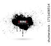 vector abstract grunge splatter ... | Shutterstock .eps vector #1711608514