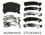 flat paint brush thin curved... | Shutterstock .eps vector #1711616611